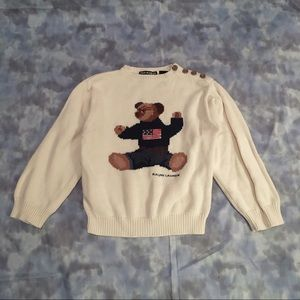 vintage 90s POLO RALPH LAUREN bear flag sweater